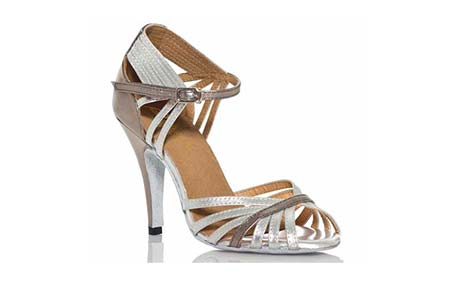 Ladies glamorous silver wedding dance shoes at Adelaide Wedding Dance Boutique